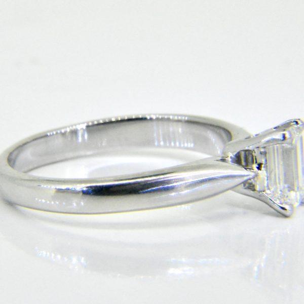 0.57ct Emerald-cut diamond solitaire