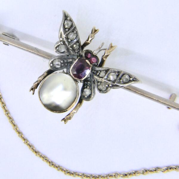 butterfly bar brooch
