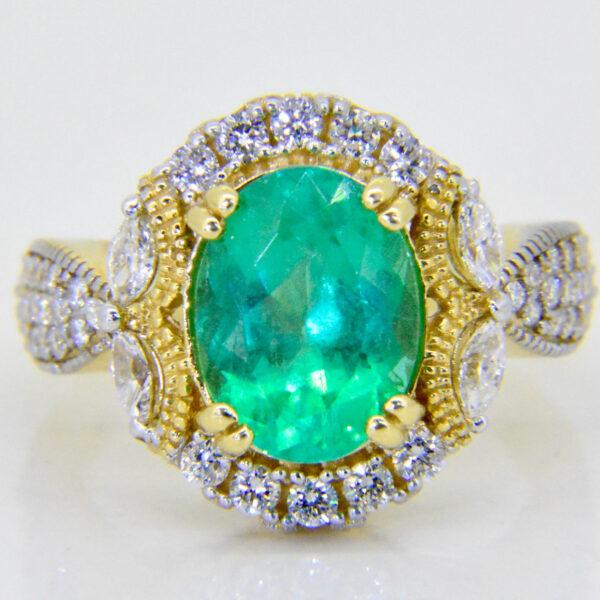 2.8ct emerald ring Jethro Malres