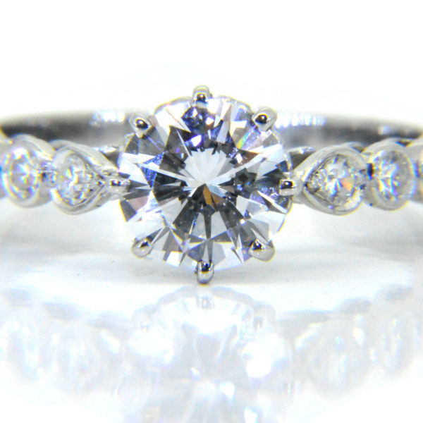 1.23ct D VS1 diamond ring