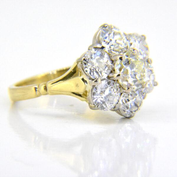 4.7ct diamond cluster ring Jethro Marles