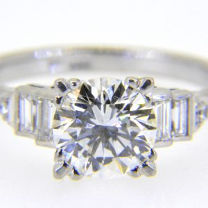 1950s diamond single-stone ring