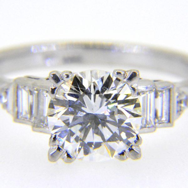 1950s diamond single-stone ring