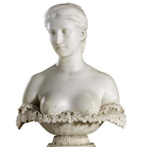 Proserpine. Marble bust by Hiram Powers