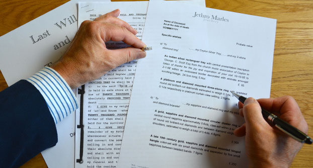 Items detailed in the 'Will' as specific wishes or bequests will be identified