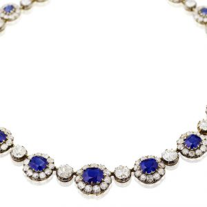 Important sapphire and diamond necklace