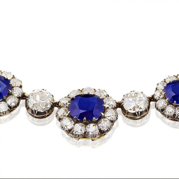 Important sapphire & diamond necklace