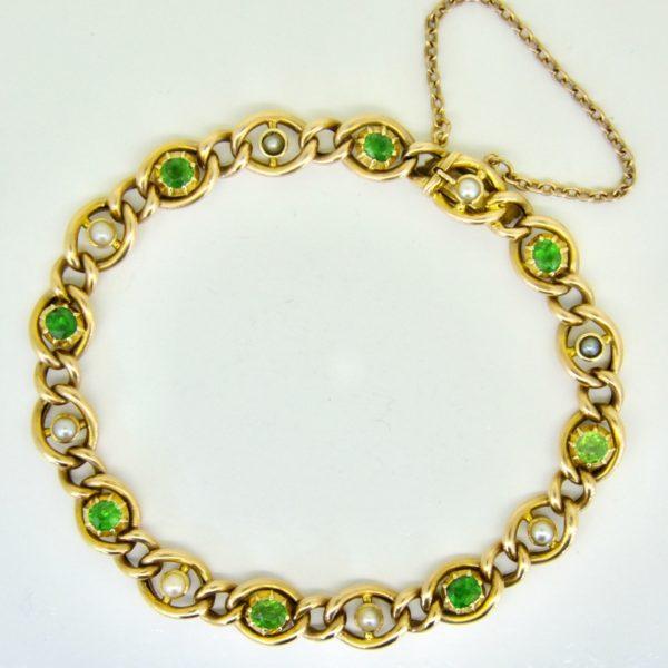 Demantoid garnet bracelet