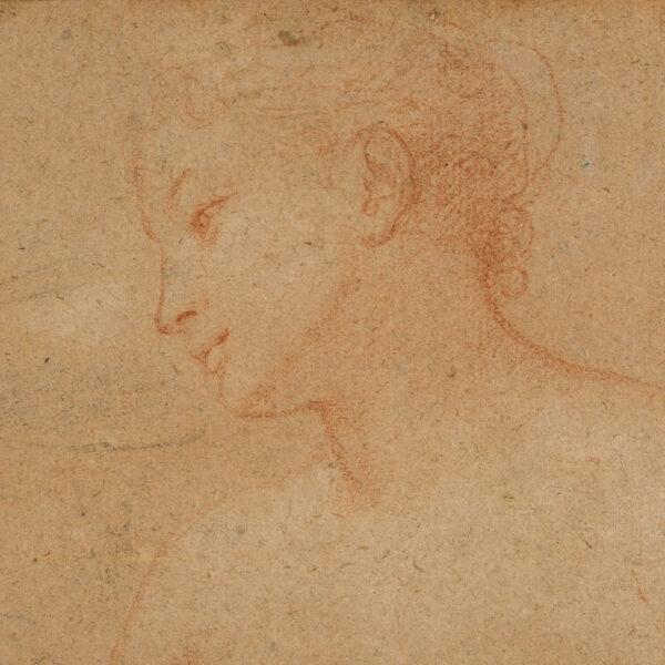 Charles Joseph Natoire [1700-1777] - Half-length female figure study