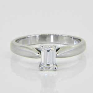 0.57ct Emerald-cut diamond solitaire