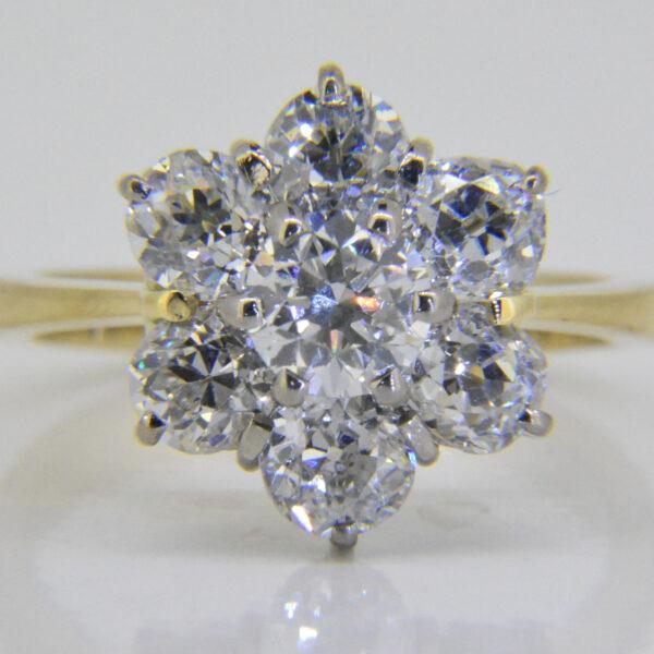 3.2ct diamond cluster ring Jethro Marles
