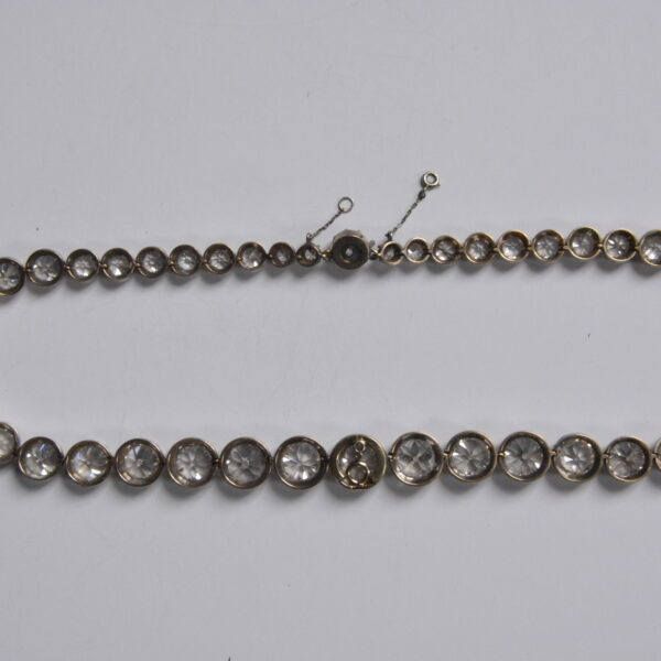 diamond riviere necklace reverse
