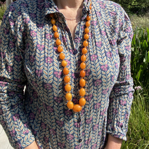 Natural Amber necklace 108gms Jethro Marles