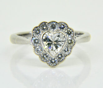 Heart shaped diamond ring
