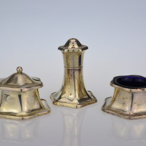Early 20th century 3 piece condiment set