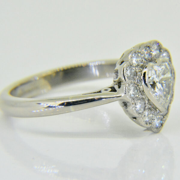 Heart shaped ring side view