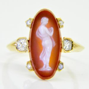 19th century hard stone cameo ring