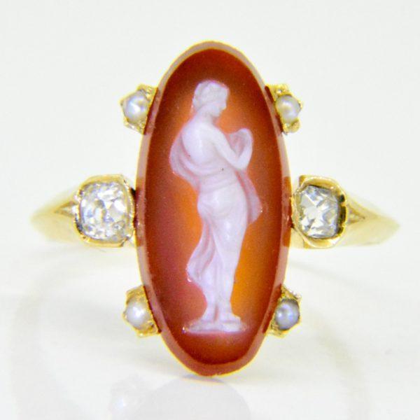 19th century hard stone cameo ring