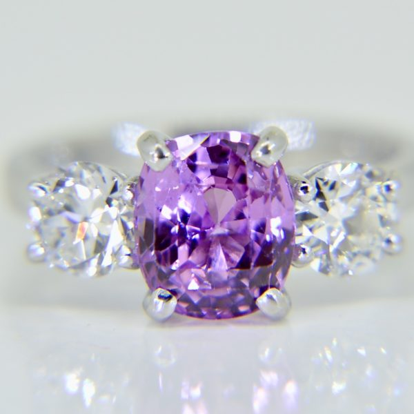 Pink sapphire diamond ring Jethro Marles