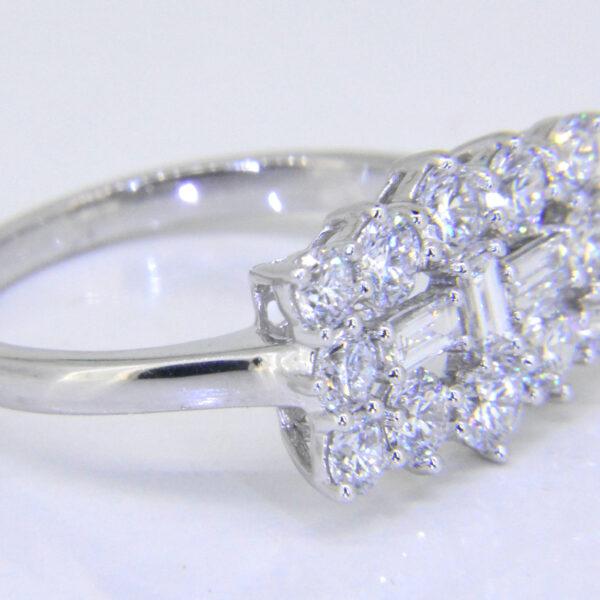 Diamond platinum cluster ring for sale Jethro Marles