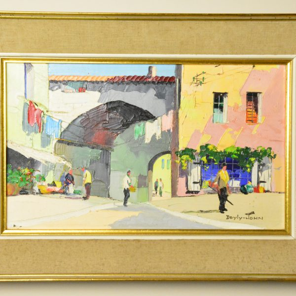 D'Oyly-John St Paul de Vence framed