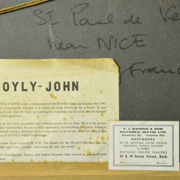 D'Oyly-John St Paul de Vence reverse