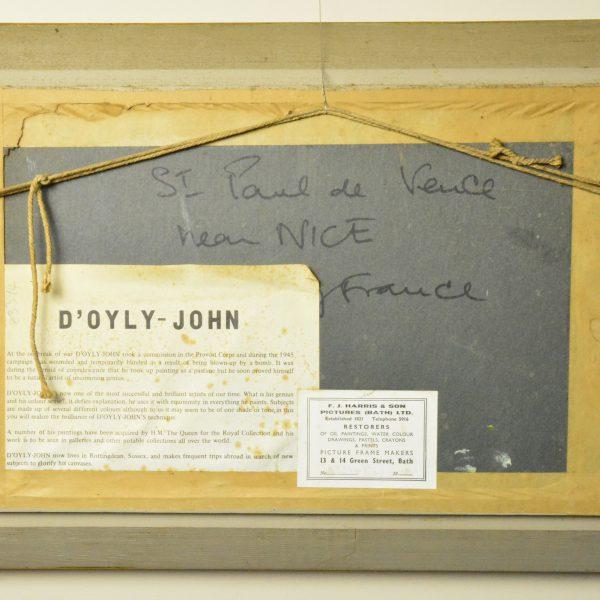 D'Oyly-John St Paul de Vence reverse frame