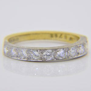 Diamond 10-stone half-eternity ring