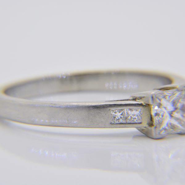 0.6ct Princess-cut diamond & platinum ring