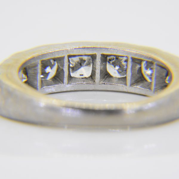 1.45ct diamond 7-stone half-ET ring