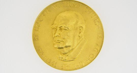 22ct gold winston Churchill medallion