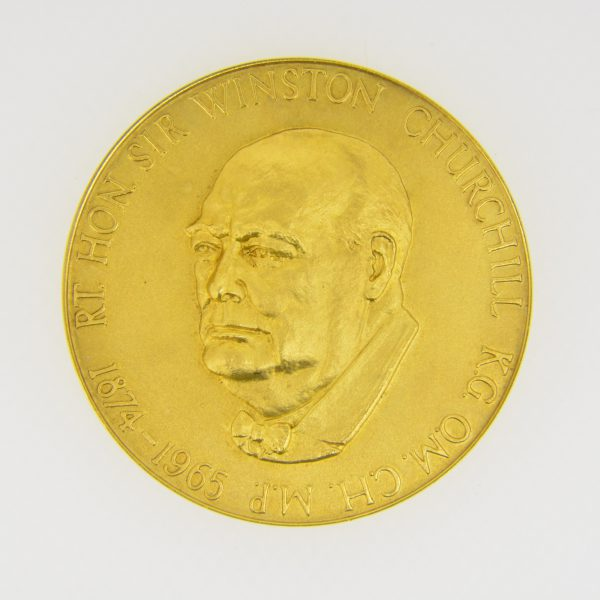 22ct gold winston Churchill medallion