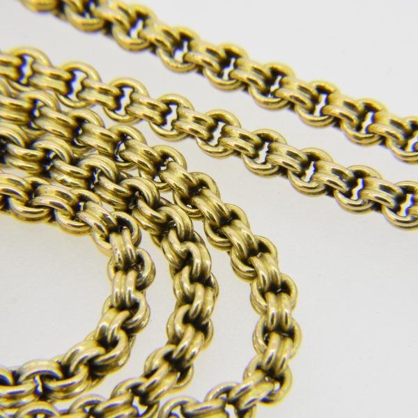 15ct gold long chain necklace
