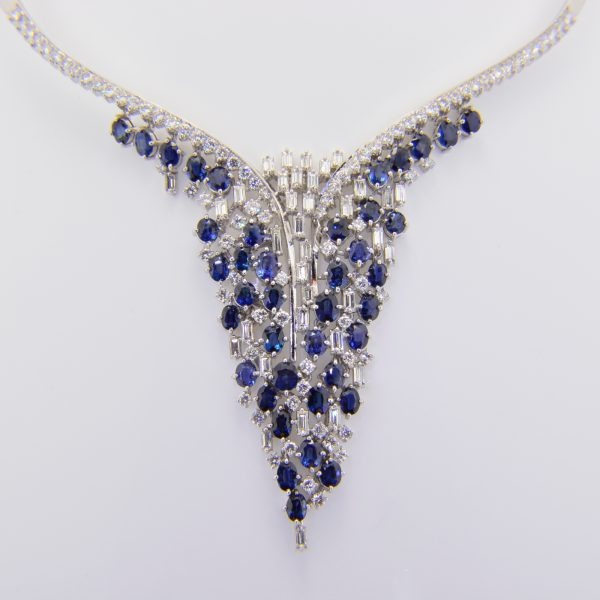 Sapphire & Diamond articulated neckla