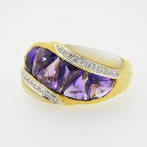 bellari 18k amethyst ring