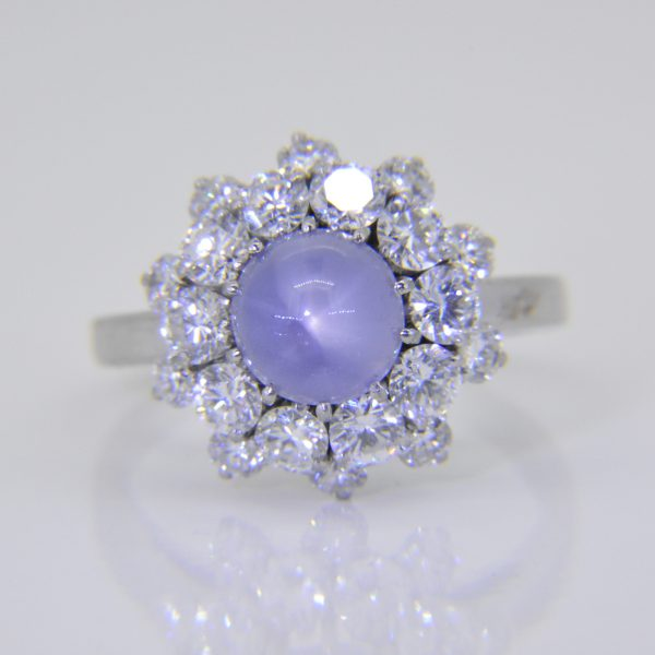 bulgari ring sapphire diamond cluster