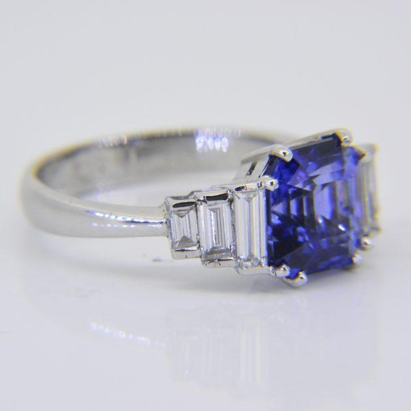 Sapphire diamond dress rin