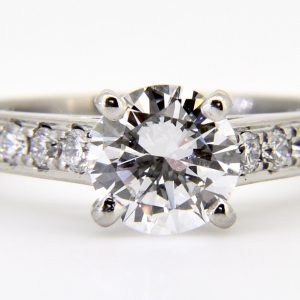 Fine solitaire diamond ring
