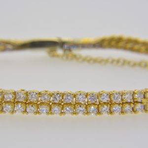 Diamond two-row bracelet