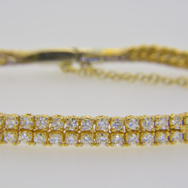 Diamond two-row bracelet