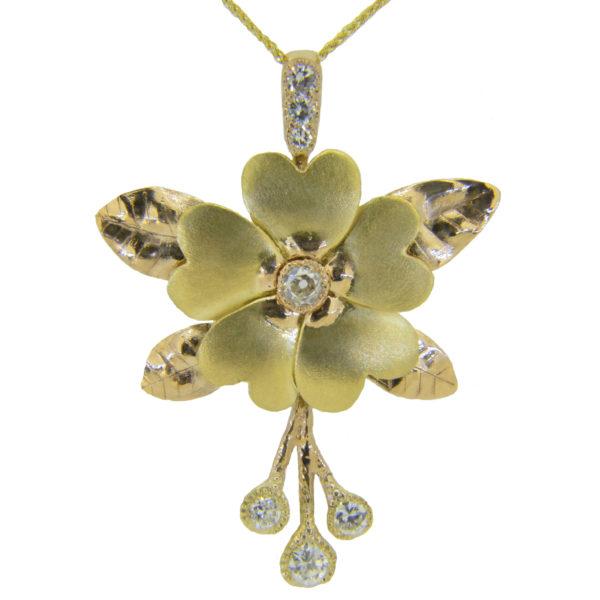 Handmade primrose pendant