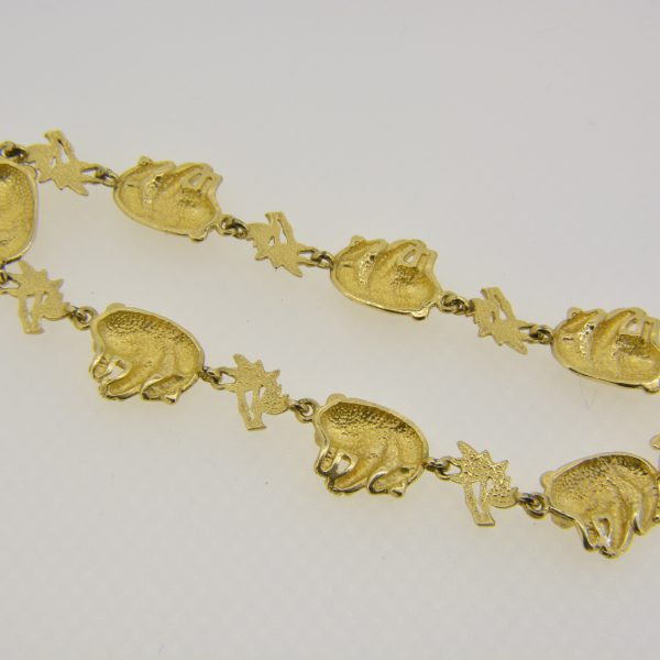 14ct gold giant panda bracelet