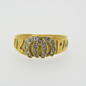 Rose diamond mizpah ring