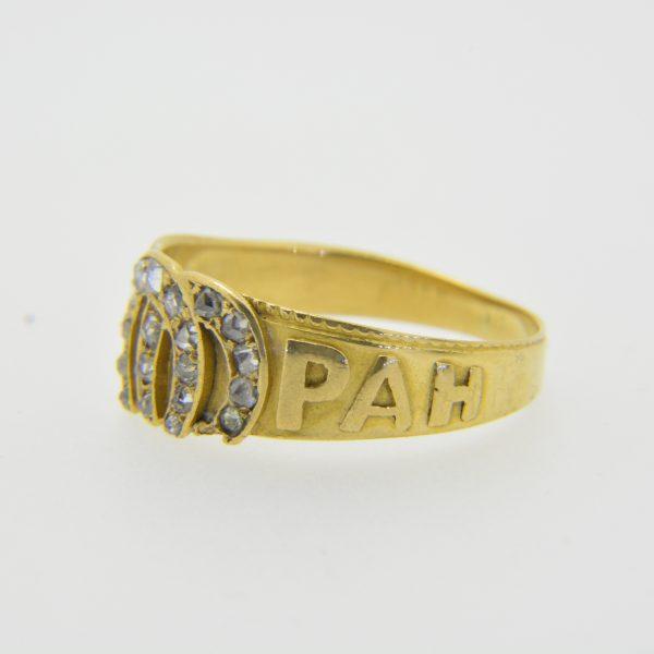 Rose diamond mizpah ring