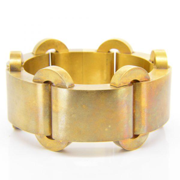 Victorian frosted gold bracelet 57gms
