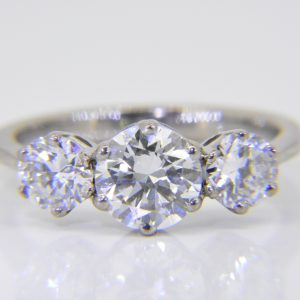 Diamond 3 stone engagement ring