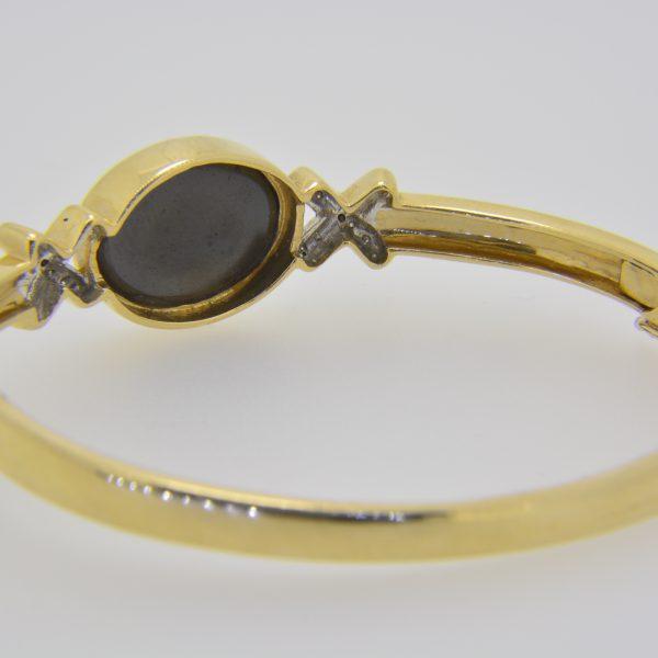 Black opal doublet bangle