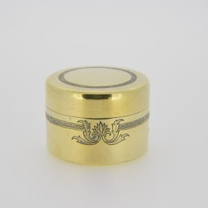 Edwardian silver-gilt box