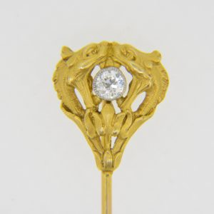 French gold diamond stick pin