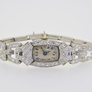 Lady's 1930s diamond cocktail wristwatch